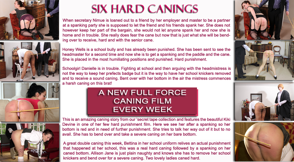six hard canings