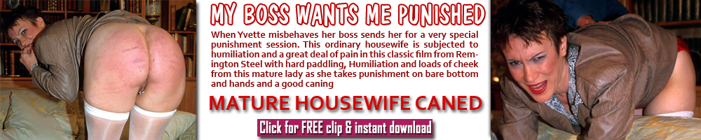 Mature wife caned